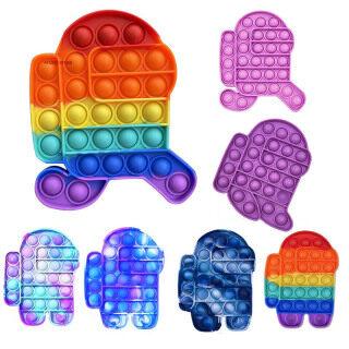 Đồ chơi đẩy bật bong bóng màu cầu vồng hình nhân vật among us, chất liệu mềm, giảm căng thẳng hiệu quả (Sản phẩm có nhiều phiên bản lựa chọn, vui lòng chọn đúng sản phẩm cần mua) - INTL thumbnail