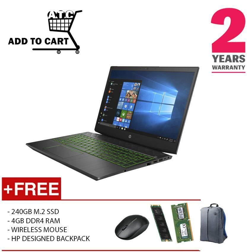 (UPGRADED) HP PAVGAMING 15-DK0010TX I5-9300H 8GD4 240GB SSD+1TB GTX1050 4GD5 WIN10H Malaysia