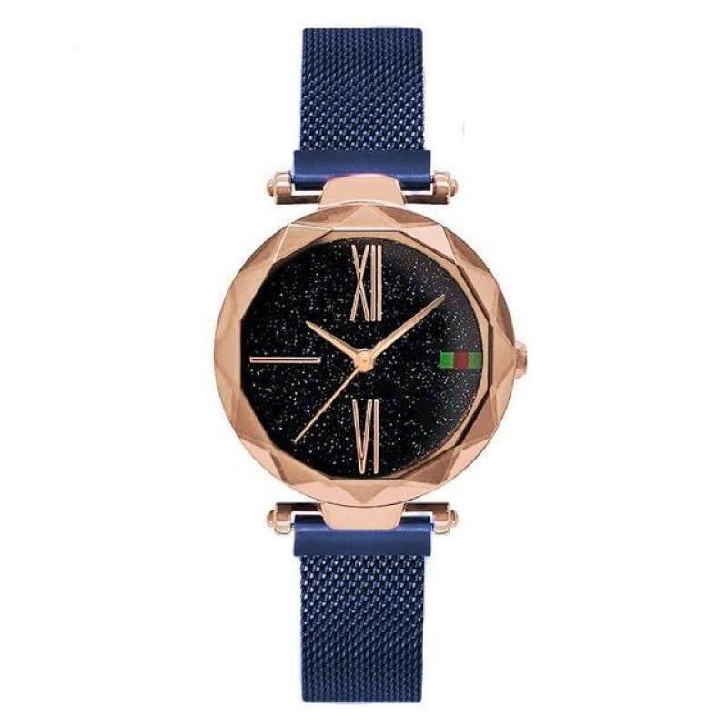 2019 New Rosy Gold Starry Sky Quartz Watch Women Mesh Magnet Casual Watches Relogio Feminino Ladies Wrist Watches Hot Sale Clock Malaysia