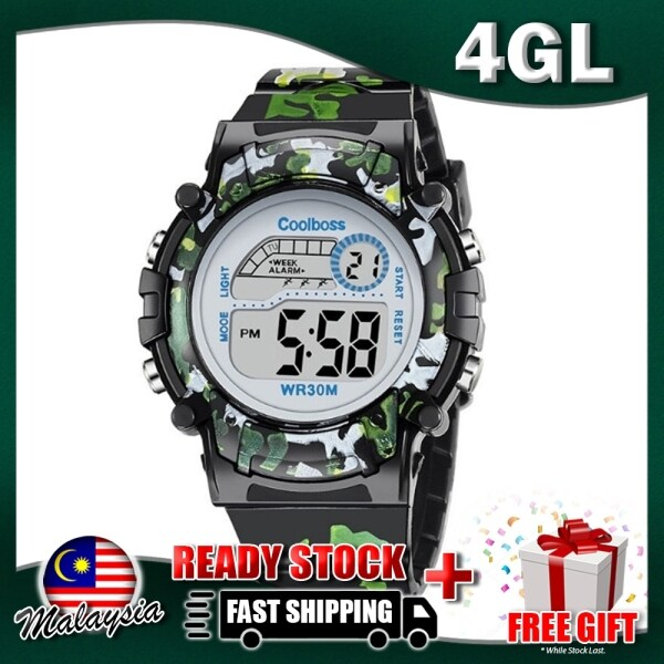 4GL CoolBoss CB-03 Girls Boys Kids Watch Digital Watch Watches Jam Tangan Malaysia