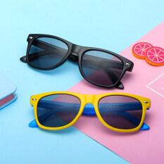 Kính chống bức xạ thời trang cho nữ bán cho trẻ em đàn ông kính chống xanh kính phẳng bảo vệ khung mềm