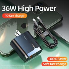 Bộ Sạc Nhanh Joyroom 18W PD + QC 3.0, Sạc Tường Máy Tính Bảng, Phích Cắm UK/EU/US, Sạc Du Lịch Di Động Cho iPhone 12 Samsung Xiaomi