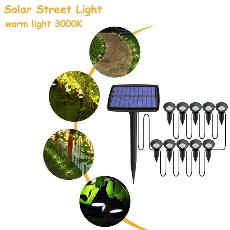 Đèn Đường Năng Lượng Mặt Trời Không Thấm Nước 10 Đèn LED Đèn Chôn Đất Cho Lối Đi