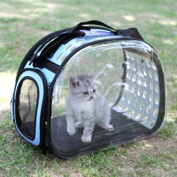 Chó Mèo Trong Suốt Túi Đựng Thú Cưng Thoáng Khí Túi Du Lịch Ngoài Trời Có Thể Gập Lại Túi Đeo Vai Puppy Túi Đựng Du Lịch