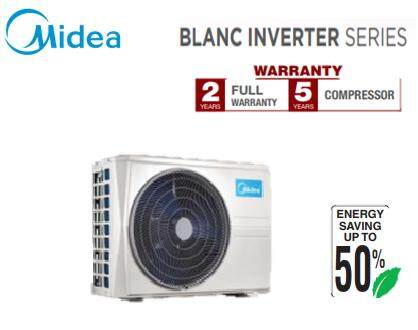 MIDEA 1.0hp R410A INVERTER WALL MOUNTED (BLANC SERIES) AIR CONDITIONER MSMA-09CRN1