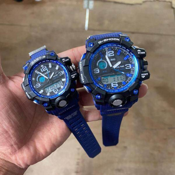 SPECIAL PROMOTION CASI0 G..SHOCK..Mudmaster DUAL TIME RUBBER STRAP WATCH FOR COUPLE(with free gift) Malaysia