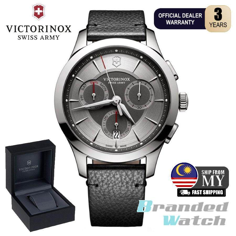 Victorinox Swiss Army 241748 Mens Alliance Chronograph Leather Strap Swiss Made Watch Malaysia