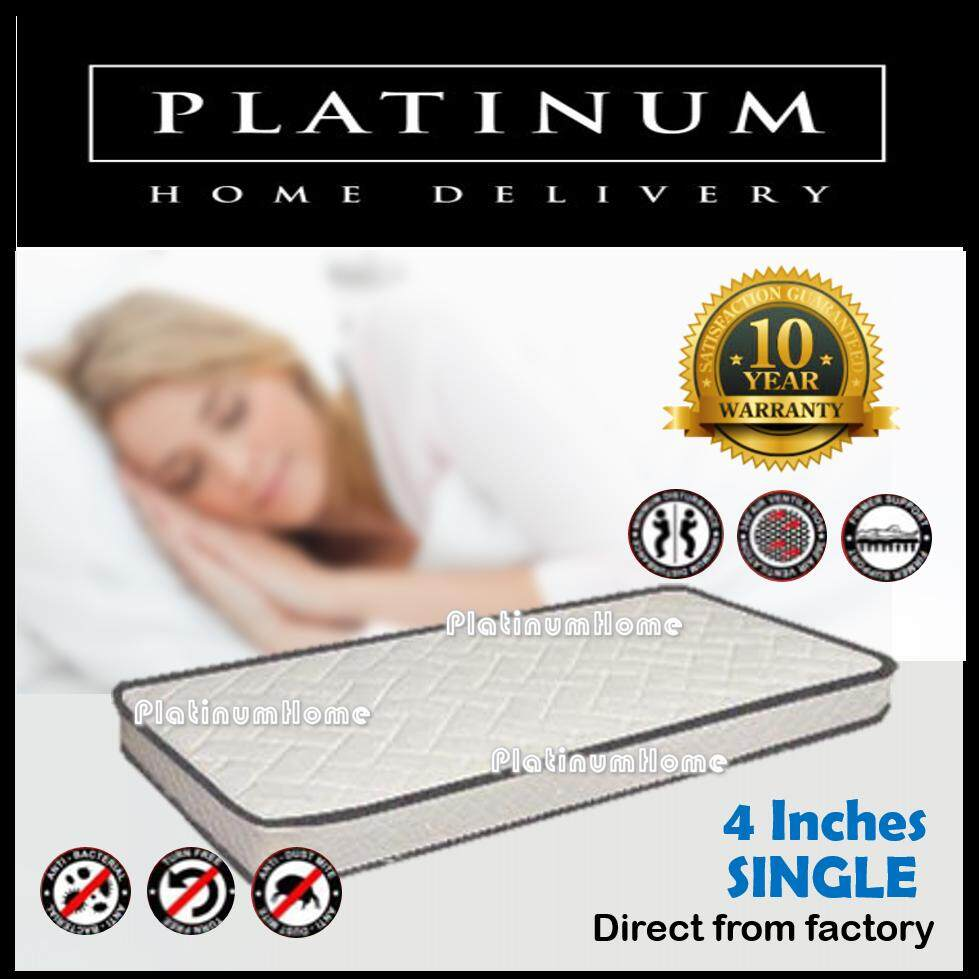 4 Inches Synthetic Latex Single Mattress By Platinumhome.