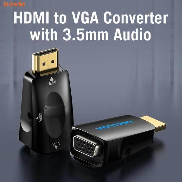Giá Vention AIDB0 HDMI Ổ Cắm Đực Sang VGA Bộ Chuyển Đổi Đầu Cái 1080P Chuyển Đổi Với Âm Thanh