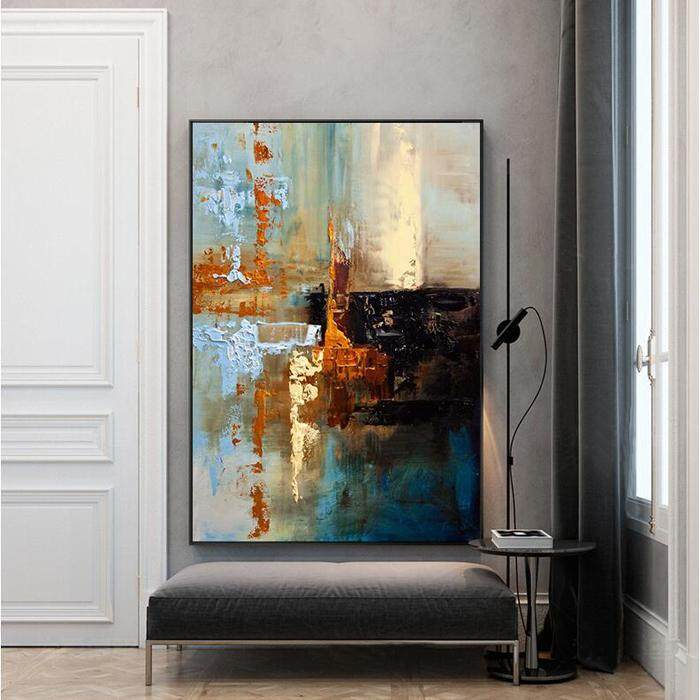 100% Hand Painted Oil Painting Abstract Pattern Painting Pop Fashion Home Wall Decoration No Frame