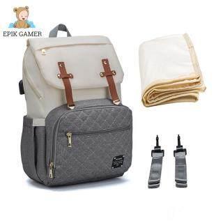 Ba Lô Đựng Tã Lật, Túi Đựng Tã Du Lịch Cho Mẹ Có Cổng USB thumbnail