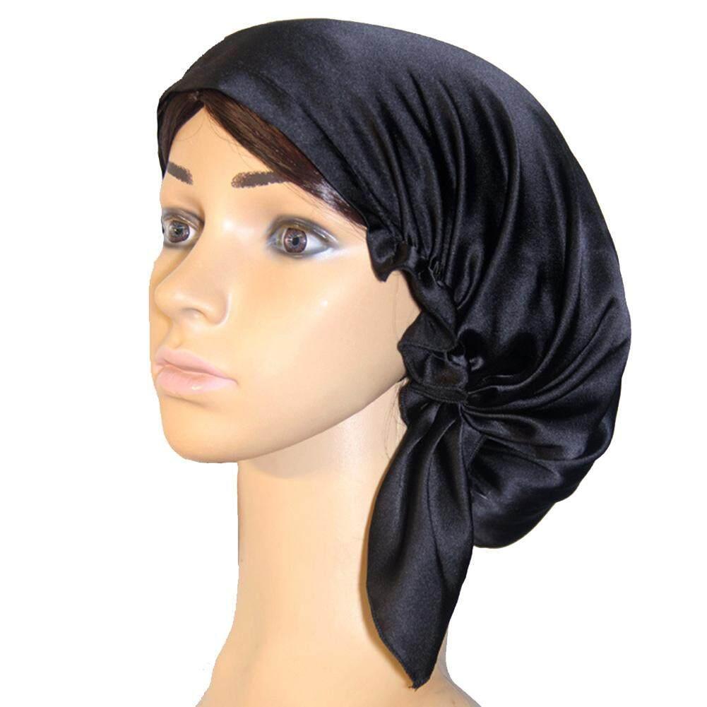 หมวกผู้หญิงหน้าแรกปรับ Soft Sleep ห่อผ้าไหมหมวกแก๊ปสวมตอนกลางคืน Multifunctional By Goldworld899.