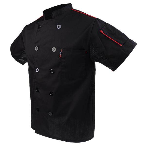 Blesiya CHEF COAT JACKETS MESH SHORT SLEEVE CHEF CLOTHING CHEFWEAR WORKWEAR UNISEX