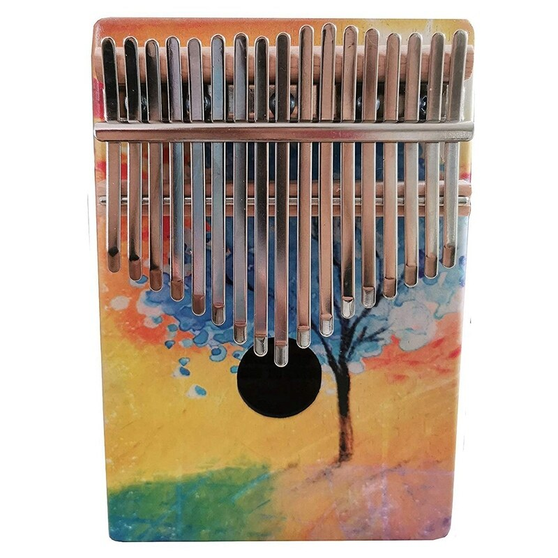 Kalimba 17 Keys Thumb Piano with Study Instruction and Tune Hammer Wood Hand Finger Piano Mbira Gifts for Kids Adult Beginners (Tree)