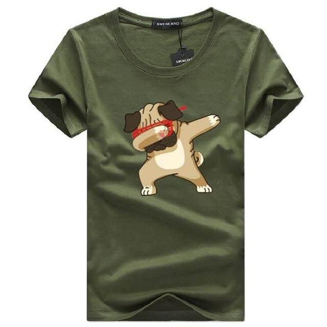 cd8194f8 SWENEARO Men's T-shirts Fashion Animal Dog Print Hipster Funny t shirt Men  Summer Casual street Hip-hop Tee shirt Male Tops 5XL | Lazada