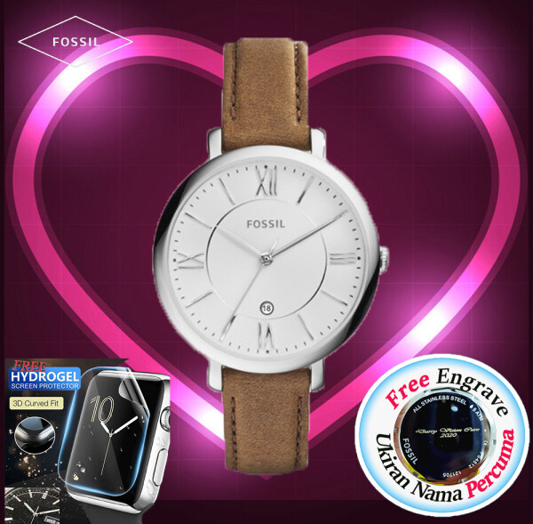 [FREE ENGRAVE] Original Fossil Womens Jacqueline Date Watch 36mm ES3708 Malaysia
