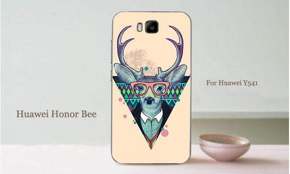 Fashion Bunga Dicat Hewan Menara Keras Sarung Pelindung PC untuk Huawei Honor Bee Huawei Y5C Huawei