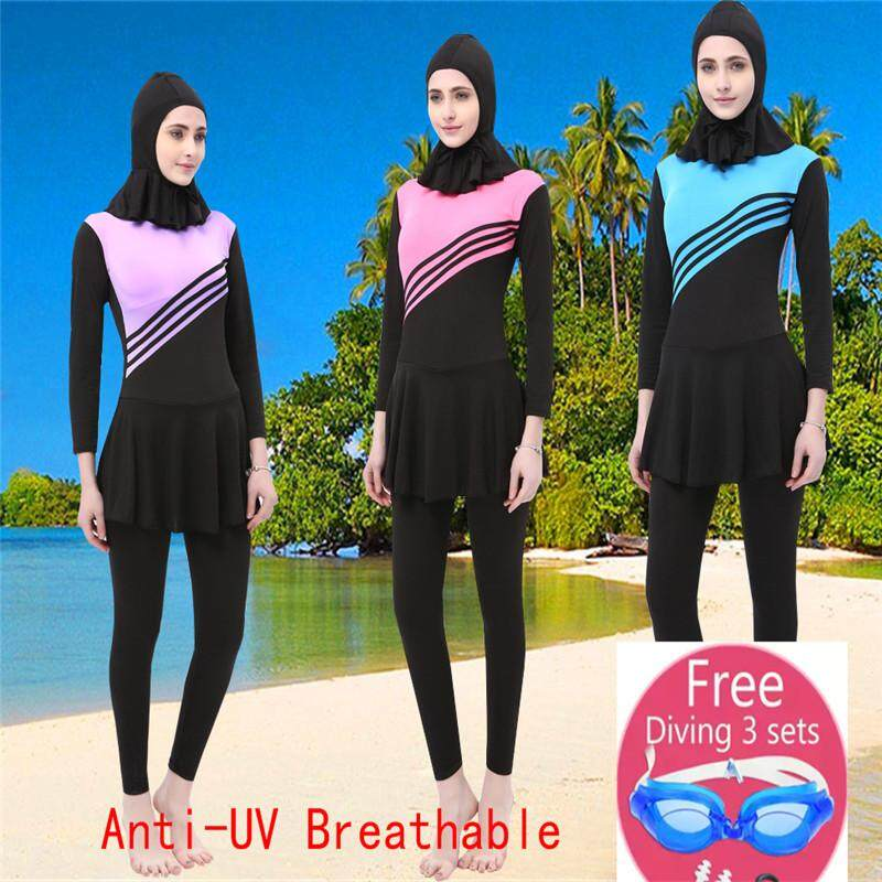 0be7bdfd6e China. Muslimah High Quality Muslim Women Swimwear Islamic Swimsuit For  Women Hijab Swimwear Full Coverage Conservative Swimwear
