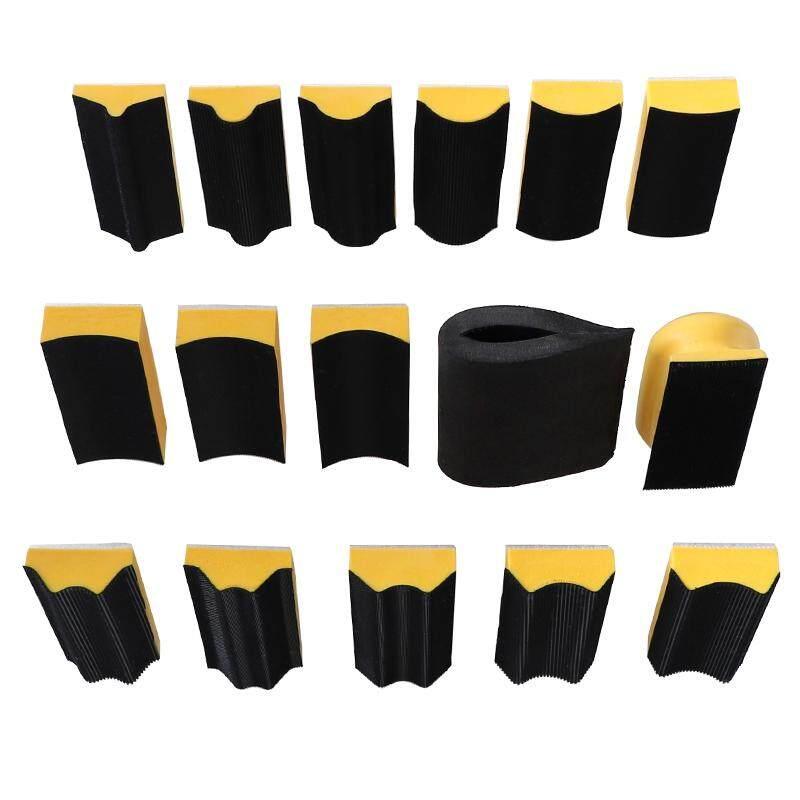 16Pcs/Set Sanding Pad 40x100Mm Shaped Hand Sanding Block Sanding Disc Grinding Sponge for Hook & Loop Sandpaper Abrasive Tools