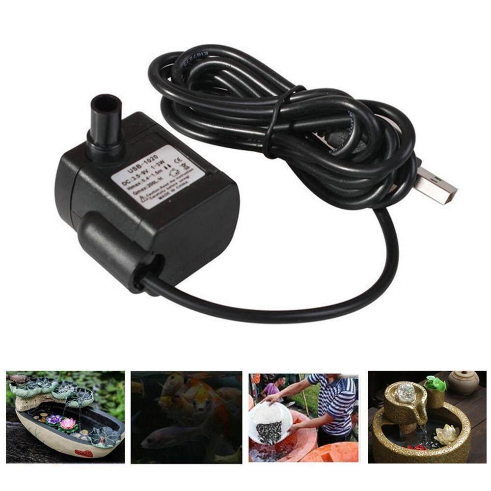 SilyNew Máy bơm nước mini không chổi than dùng làm đài phun nước đặt chìm trong bể cá không gây tiếng ồn có cổng cắm USB (kích thước 39*38*28mm) - INTL