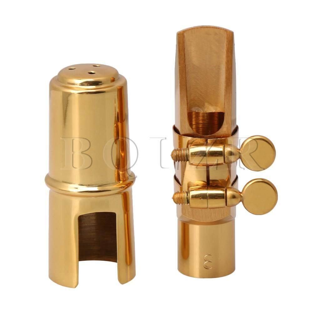 7x1.4 cm Kèn Soprano Saxophone Miệng 8 # B-Flat W/Nắp Đầm Vàng