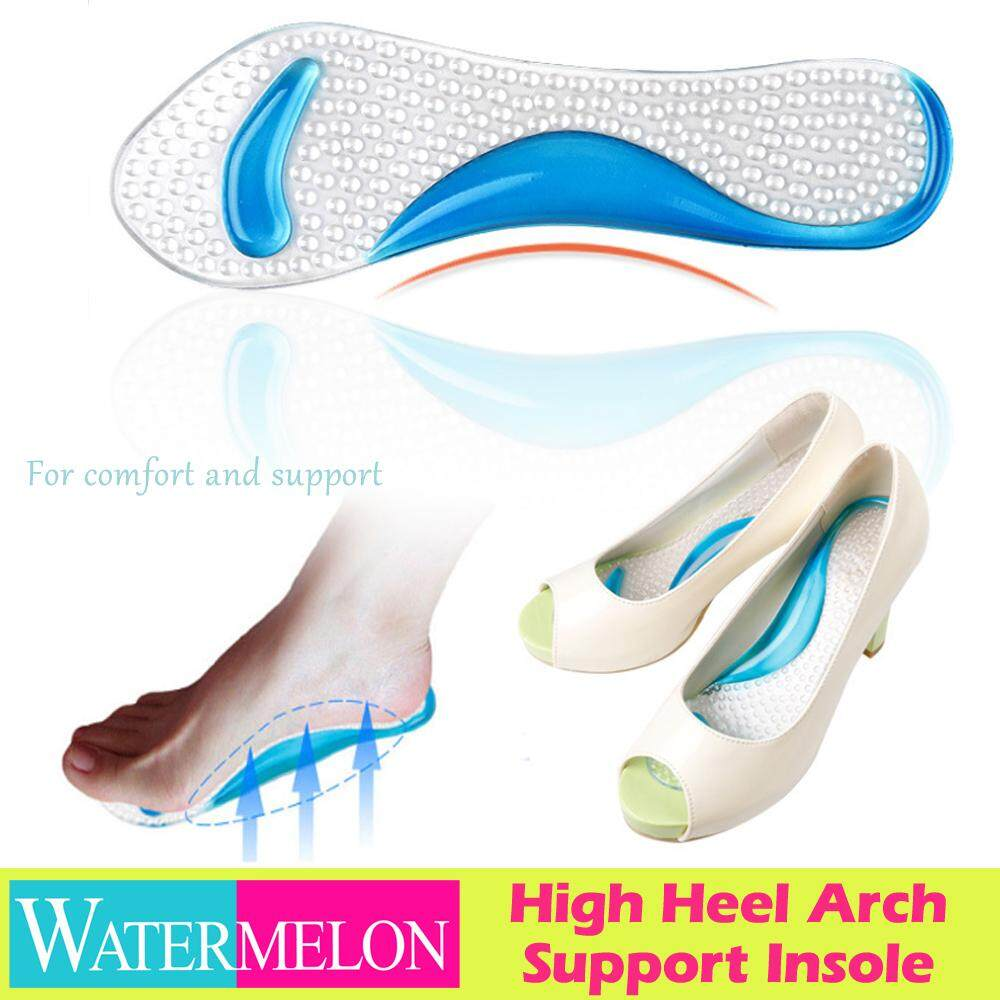 2 Pairs Transparent Soft Silicone Gel Front Sole Shoes Insoles Pads Cushion Care