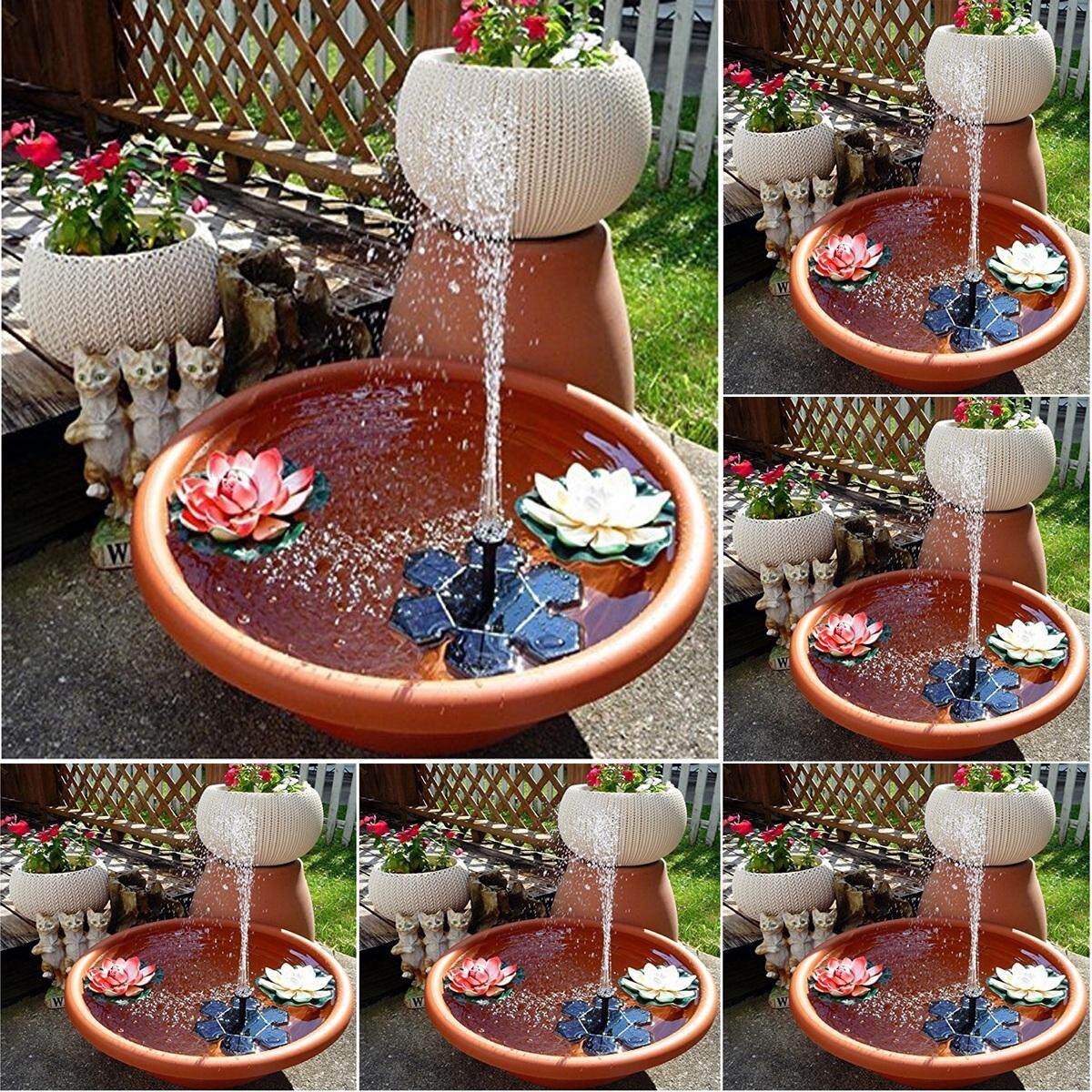 Solar fountain Water Pump Garden Pool Indoor Landscape Home Decoration Collector New