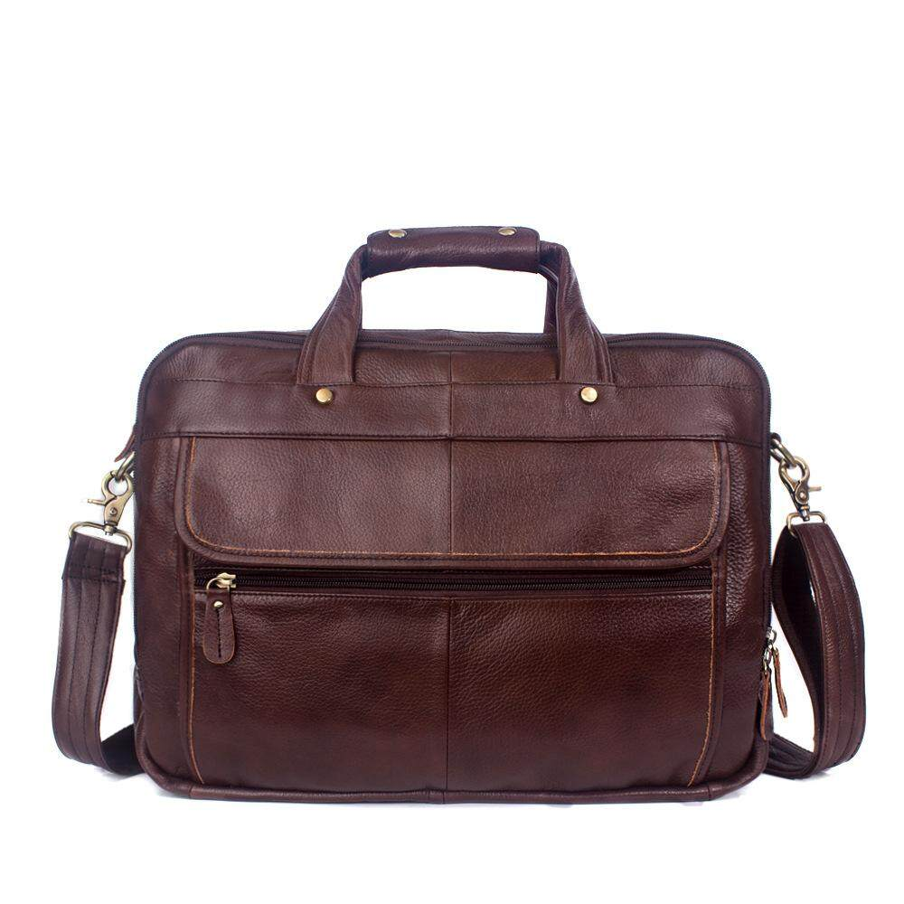 Genuine Leather Man Bag Top Layer Leather Fashion Bag Mens Business High Capacity Handbag 8897 - intl