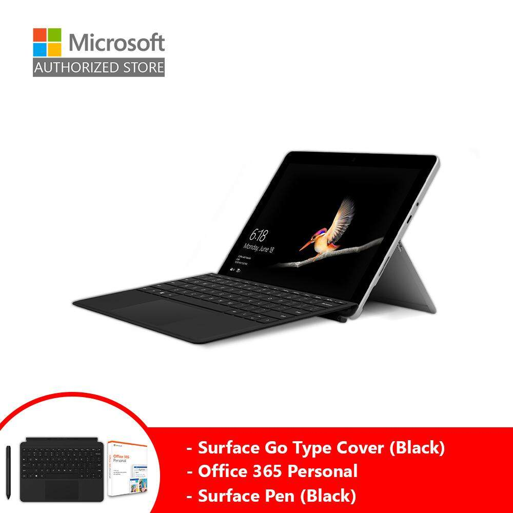 Microsoft Surface Go (Intel 4415Y/8GB/128GB/10 /Windows 10) + Type Cover (Black) + Pen (Black) + Office 365 Personal Malaysia