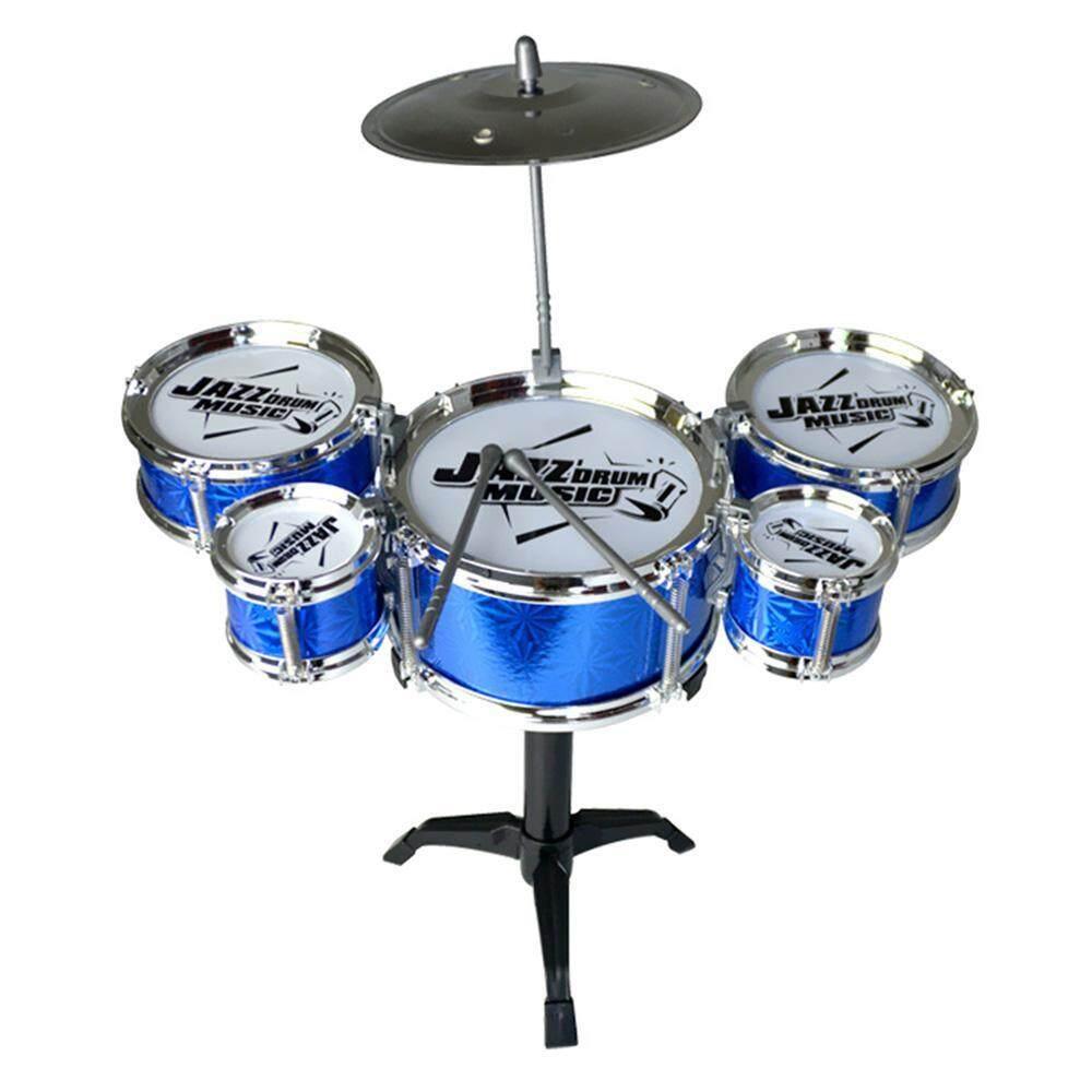 Orzbuy Để Bàn Trống Jazz Drum Bộ 5 Trống Trẻ Em Trẻ Em Bộ Trống Nhạc Cụ Đồ Chơi Nhỏ Cymbal Trống Gậy Trẻ Em đồ Chơi Giáo Dục Trống Đồ Chơi Âm Nhạc
