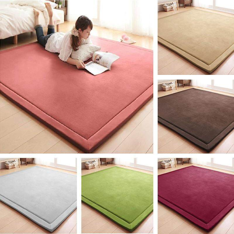 Japanes Large Floor Non Slip Carpet Tatami Mat Rug  Home Bedroom Room 120*200CM