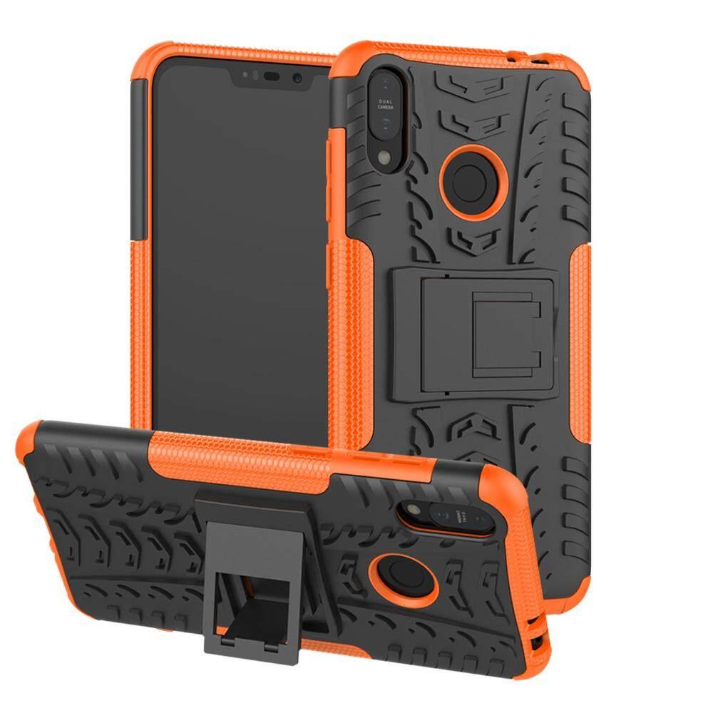 Untuk Asus Zenfone MAX M2 ZB633KL Combo Tpu Pc 2 Di 1 Kickstand Case 6.26 Inch
