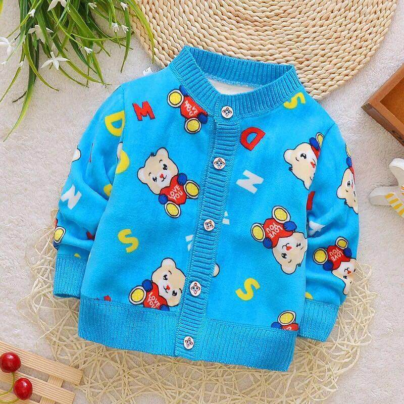 d45b2c23 Baby Boys Clothing Kid Car Plane Warm Sweaters Toddler Boy Vest O-neck  Thick Outerwear