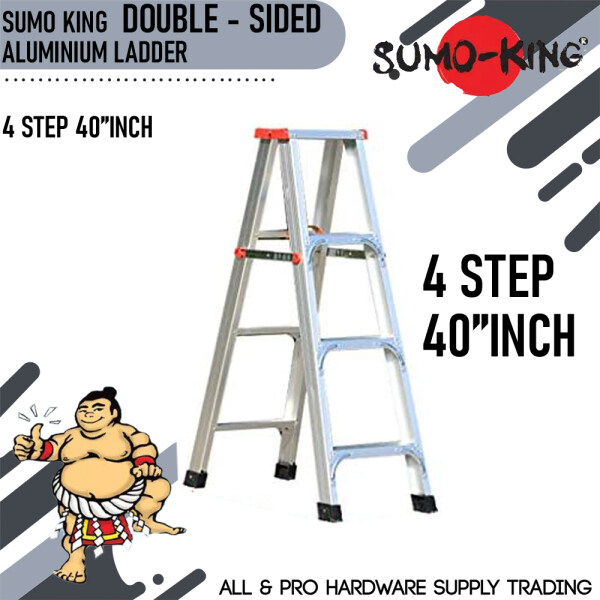SUMO KING DOUBLE SIDED LADDER 4 STEP 40INCH
