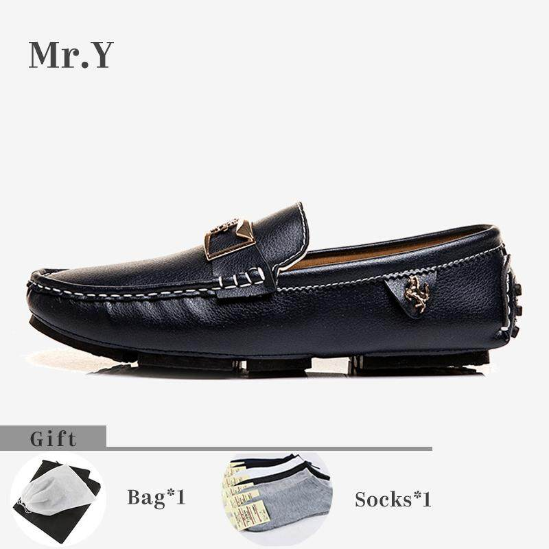 4991f19af0c Mr.Y 39-48 Men s Cow Leather Loafers Moccasins Shoes Casual Driving Shoes  Slip