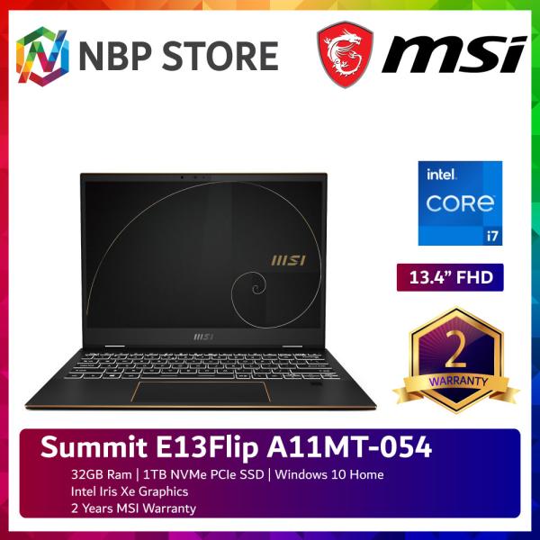 MSI Summit E13Flip A11MT-054 13.4 FHD Laptop Black ( i7-1185G7, 32GB, 1TB SSD, Intel, W10 ) Malaysia