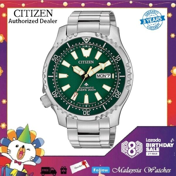 CITIZEN NY0099-81X Promaster Fugu Marine Gents Green Bezel Automatic Divers 200M Asia Limited Edition Watch Malaysia
