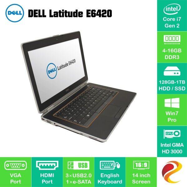 Refurbished i7 G2 Dell Latitude E6420 laptop PC 4GB 8GB RAM 128GB 256GB 512GB SSD notebook CPU komputer riba murah bajet Malaysia