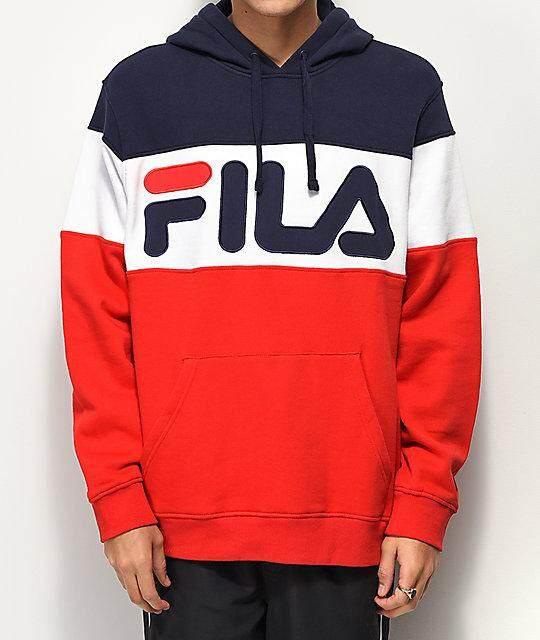 Fila Unisex Hoodies Fashion Hoodies [100% Cotton ] New Quality Update Unisex Hoodies Fashion