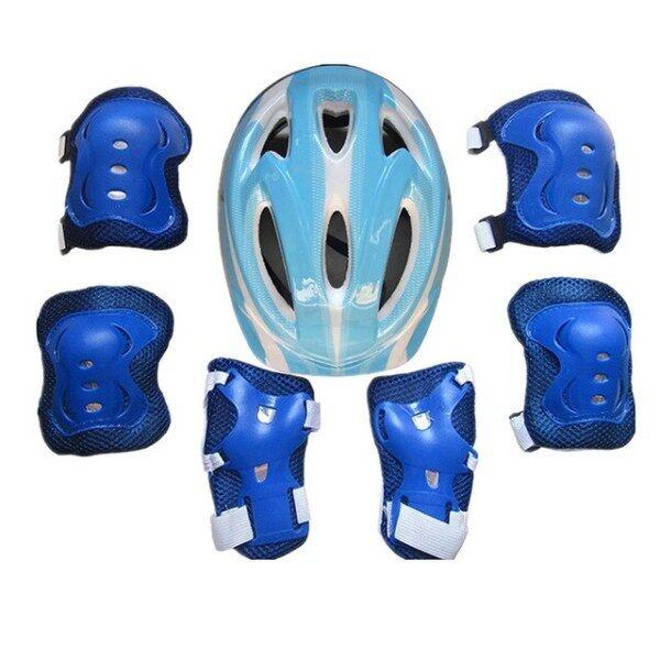 Mũ Bảo Hộ Trẻ Em Bé Trai Bé Gái Mới 2019 Bộ Mũ Bảo Hiểm & Đầu Gối & Đệm Khuỷu Tay Đối Với Xe Đạp Skate Xe Đạp Bảo Vệ