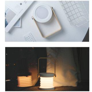 Baoblaze Đèn Bàn Led Gấp Gọn Tiện Dụng Có Thể Thu Vào, Đèn Ngủ Tay Cầm Bằng Gỗ Có Sạc USB Đèn Đọc Sách thumbnail