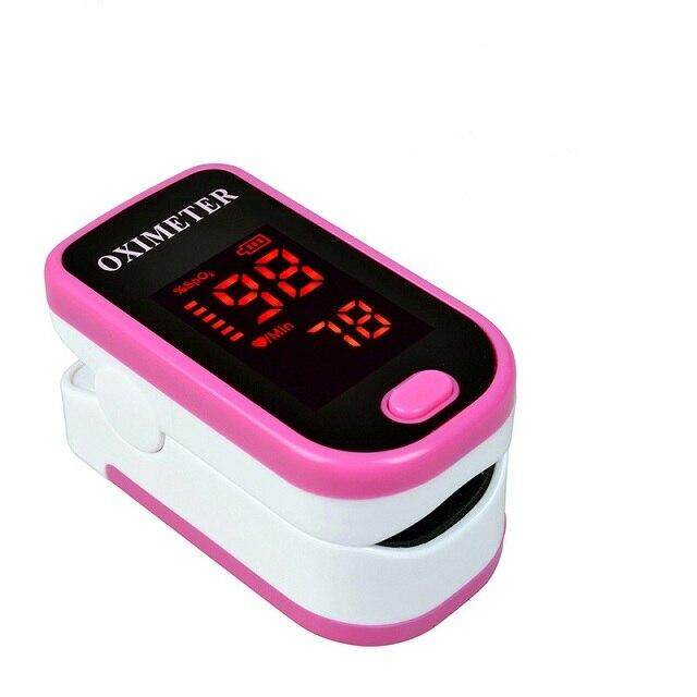 (pink )ENVN LED Fingertip Pulse Oximeter Blood Oxygen SPO2 PR Saturation Portable Oximetro Monitor oximetro de dedo Health Care LLT Store