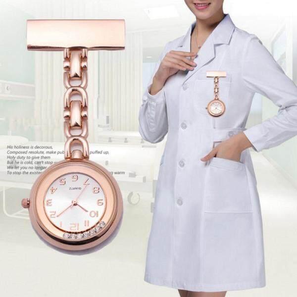Nurse Watch Paramedic Doctor Pocket Watches Flow Diamond Quartz Lapel Pin Clip-on Hanging Brooch Fob Watch Malaysia
