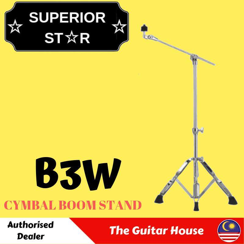 Superiorstar B3W Boom Cymbal Stand With Double Braced Legs
