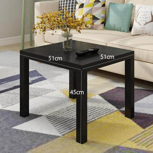 RuYiYu - 51 X 51 X 44.5 cm, Parsons Modern End Table, 4 Wood Legs Coffee Table, Square End Side Table, Night Stand Table, Telephone Sofa Snack Table for Living Room Home and Bedroom