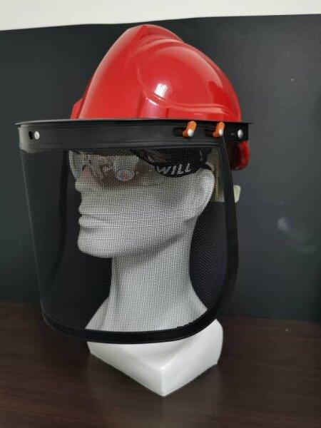 MESH FACE SHIELD FOR CONSTRUCTION WORKS/GARDENING WORKS/BLOCK HAZARDS FLYING WOODS CHIPS& SPLINTERS