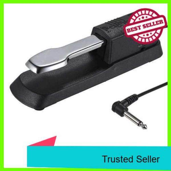Universal Piano Sustain Pedal Keyboard Foot Damper Pedal with 6.35mm Plug for Casio Yamaha Roland Electronic Organ MIDI Keyboards Digital Pianos (Black) Malaysia