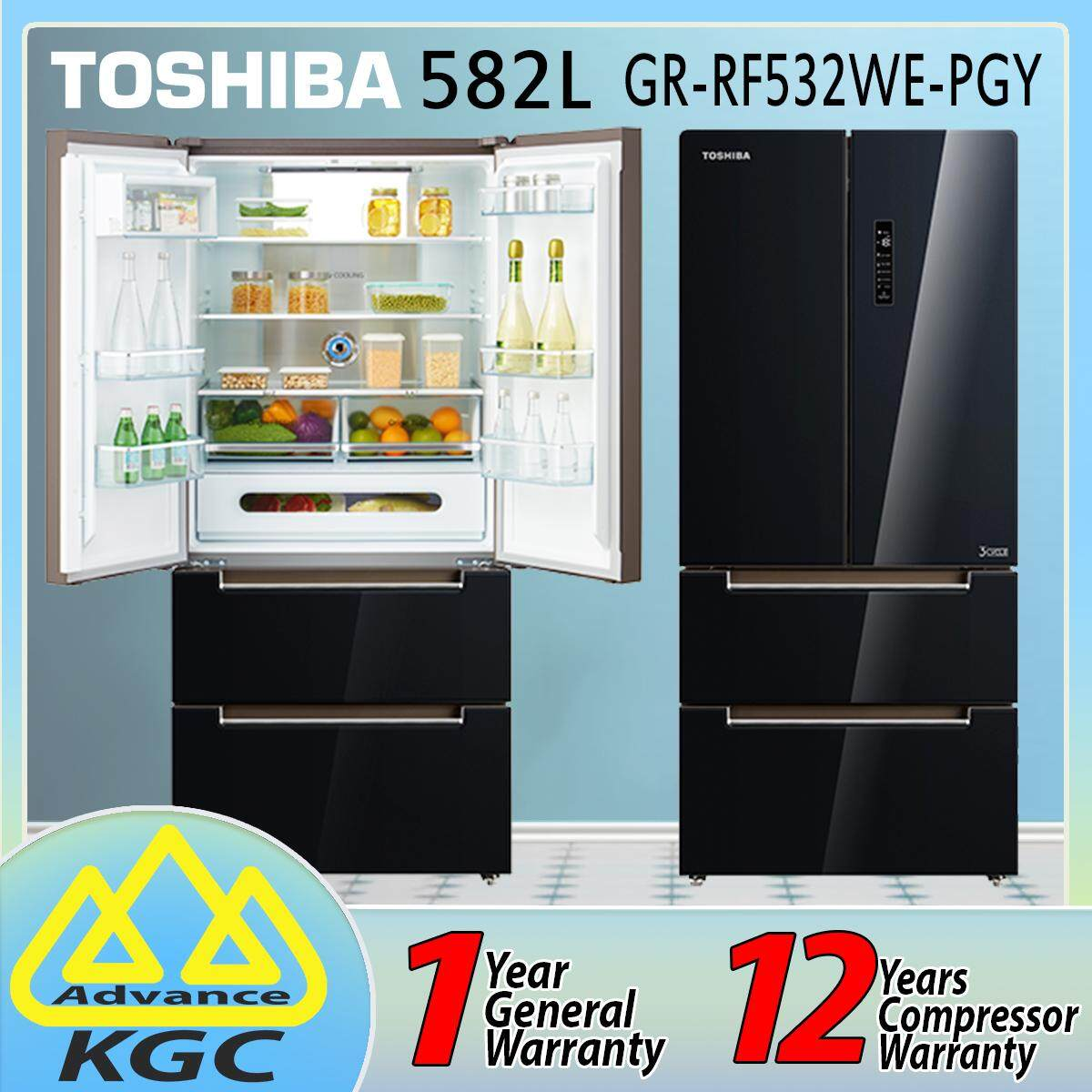 Toshiba 582L French Door Dual Inverter Refrigerator GR-RF532WE-PGY (22)