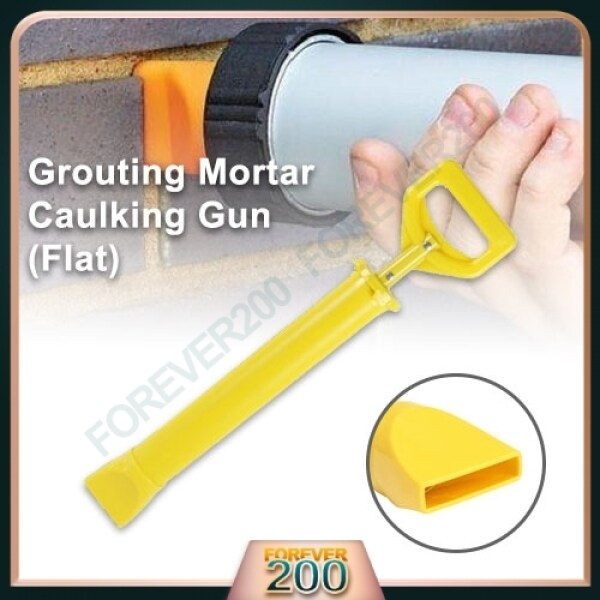 Flat Grouting Mortar Caulking Gun Pointing Tool Sprayer Flat Mouth Applicator for Cement Lime Ready Stock
