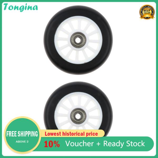 Phân phối Tongina 2 Chiếc PU Xe Tay Ga Bánh Xe Trượt Tốc Độ Bánh Xe Đẩy Thay Thế 100Mm